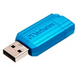 Pendrive Pin stripe 8GB turquesa