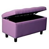 Banqueta botoné 80x40 violeta eco