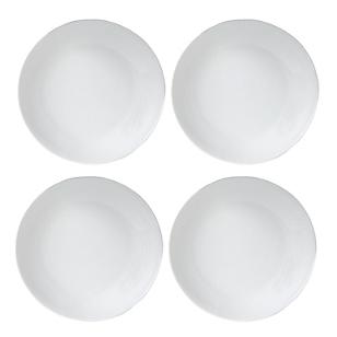 Set x 4 platos hondo redondos