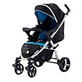 Coche travel system negro y celeste