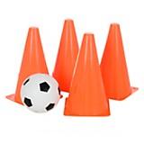 Set de conos de fútbol con pelota