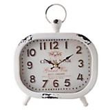 Reloj de mesa blanco 20 cm