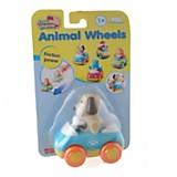 Perro sobre ruedas