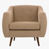 Sofa 1 cuerpo California pana sepia