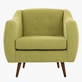 Sofa 1 cuerpo California pana olive