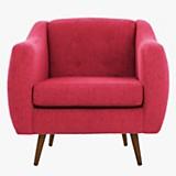 Sofa 1 cuerpo California Chenille rojo