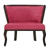 Sofa 1 cuerpo Leville Chenille rojo