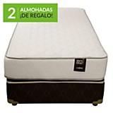 Cama americana ergot 1 1/2 plaza + 2 almohadas