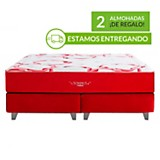 Cama somnus rouge king + 2 almohadas