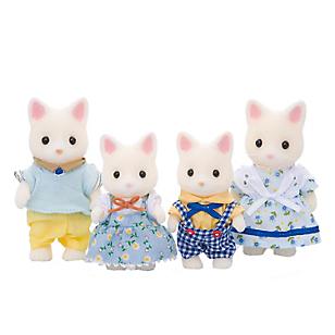 Familia de gatos seda