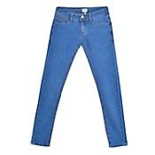 Jean básico con lavado suavizado de nena talles 10 a 16