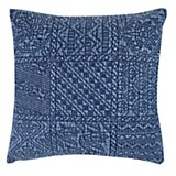 Almohadón patch azul