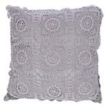 Almohadón crochet cuadrado violeta