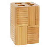 Portacepillo bamboo rayas
