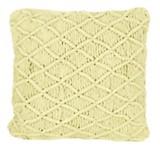 Almohadón crochet cuadrado lima