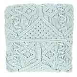 Almohadón crochet cuadrado verde