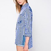Camisa tartán bordada