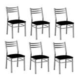 Set x 6 sillas giselle negro