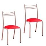 Juego de sillas carola rojo x 2