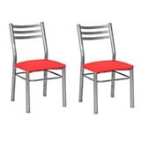 Juego de sillas giselle rojo x2