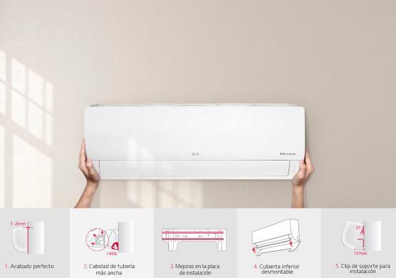 aires acondicionados LG instalación más fácil y eficiente