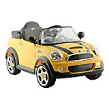 Carro el�ctrico Mini Cooper amarillo