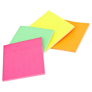 Set 40 Sheets x4 Pads Sticker fluorescentes