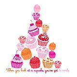 Vinilo autoadhesivo Happy cupcakes