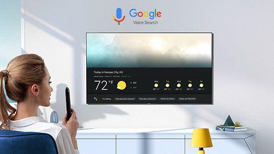 Función google voice en televisor Hisense para fácil acceso