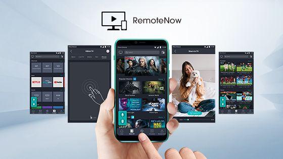 Descarga RemoteNow en tu dispositivo para controlar tu televisor con simples toques