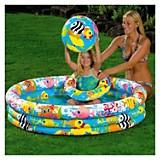 Combo piscina, flotador, aro y balon