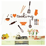 I Love Cooking vinilo autoadhesivo
