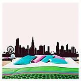 Chicago skyline vinilo autoadhesivo