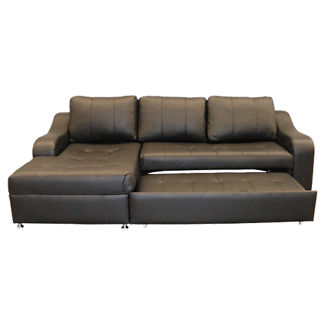 Mica sof cama en l izquierdo bombua ecocuero for Sofa cama 2 plazas falabella