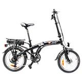 Bicicleta Plegable Portable Negra Mate Plus Rin 18 pulgadas