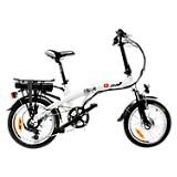 Bicicleta Plegable Portable Blanca Plus Rin 18 pulgadas