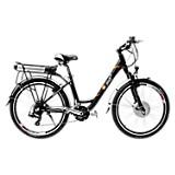 Bicicleta Urbana Negra Mate Rin 26 pulgadas