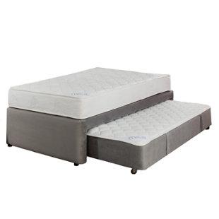 Mica set plenitud cama div n semidoble gris for Falabella divan