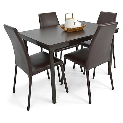 Mica juego de comedor loft 4 puestos sillas chocolate for Comedor 4 sillas falabella
