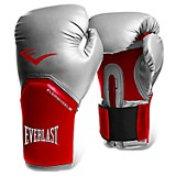 Guantes boxeo pro styles rojo con plateado