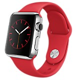 Watch 38 mm Plateado y Rojo