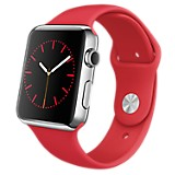 Watch 42 mm Plateado y Rojo