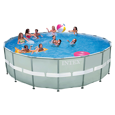 Intex piscina estructural ultra frame for Piscina estructural intex