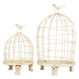 Set Jaula 2 Pzs Birds 18x34 cm