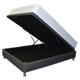 Combo Colchón Clásico Micro Sencillo-Base Boxet Multiespacio Gris
