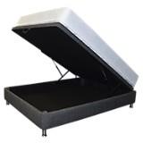 Combo Colchón Clásico Micro Doble-Base Boxet Multiespacio Gris