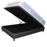 Combo Colchón Firm Micro Sencillo-Base Boxet Multiespacio Gris