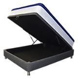 Combo Colchón Supreme Micro Doble-Base Boxet Multiespacio Gris