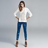 Jeans cortes y cierres