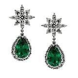 Aretes Cissus Pear Drops In Green